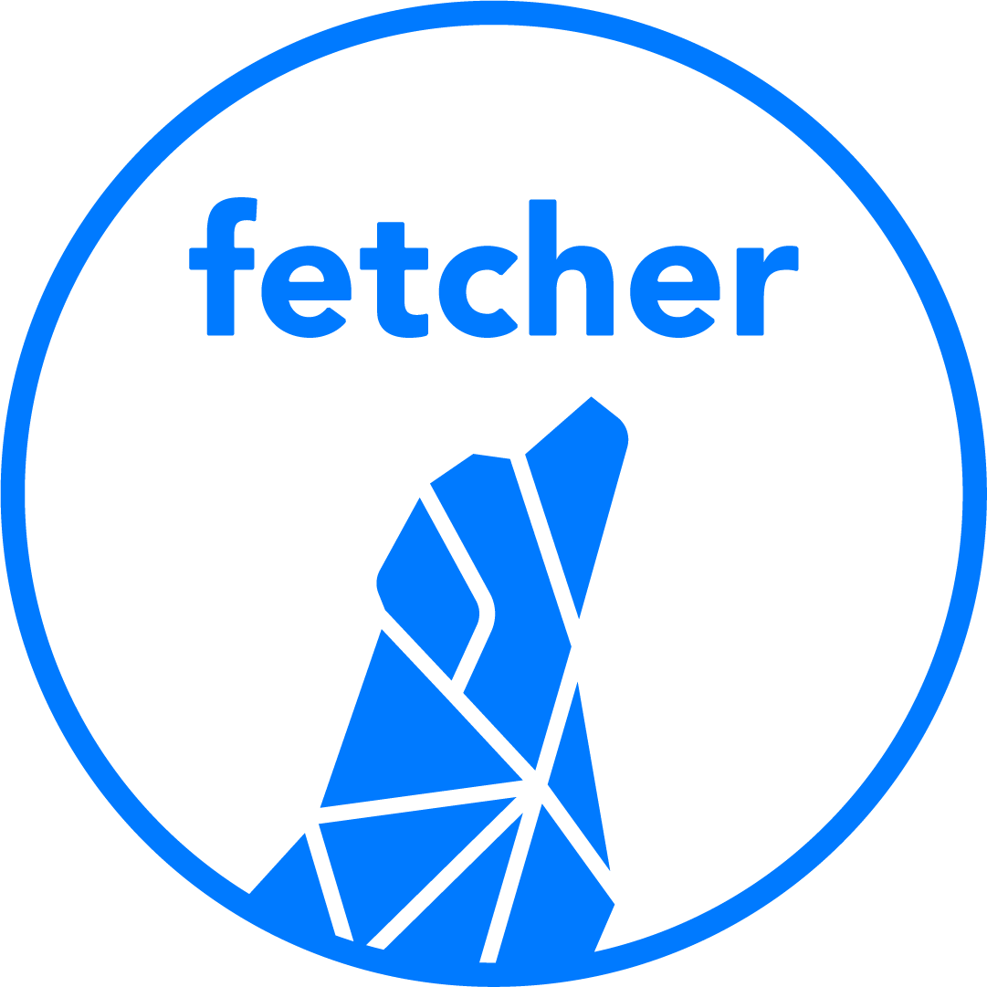 Fetcher Secondary Blue Logo